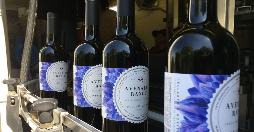 Photo Avenales Ranch Bottles on the bottling line